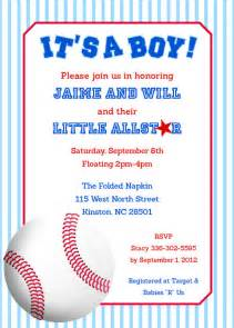 baseball baby shower invitations theruntime