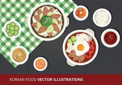 food vector korean food vector illustration download free vector art