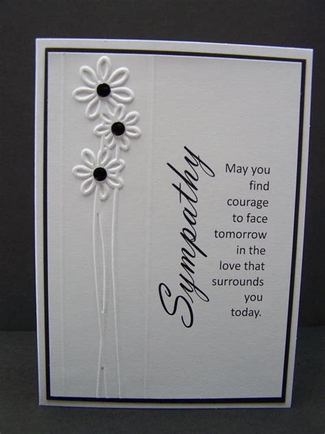 Handmade Sympathy Cards Verses - handmade greeting card sympathy card condolence card