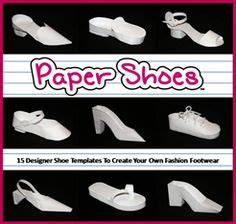 How To Make Paper Shoes Templates - high heel paper shoe template paper so pretty shoe