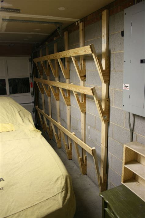 Garage Wood Storage by Wood Storage Rack For Garage Plans Diy Free