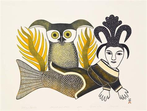 Decorative Owls inuit art winnipeg art gallery