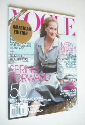 The Meryl Streep Covers Vogue by Us Vogue Magazine January 2012 Meryl Streep Cover