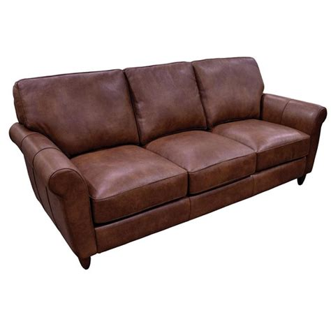 Omnia Leather Sofa by Cameo Sofa By Omnia Leather Usa Made Free Shipping
