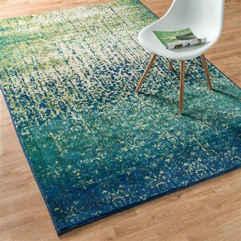 blue and green area rug monet blue cascade rug 5 2 x 7 7 overstock