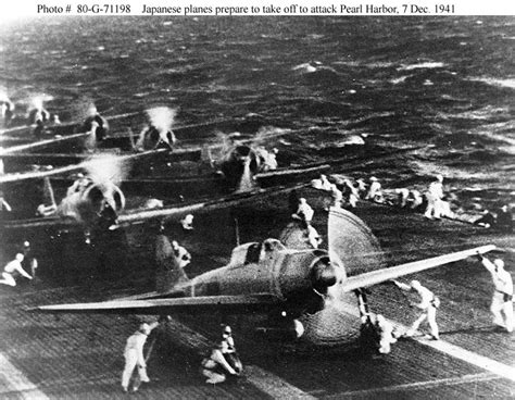 photos of japanese aircraft carriers used in attack of japanese forces in the pearl harbor attack