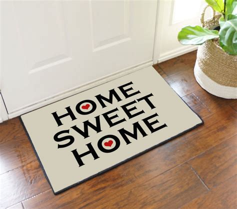 home sweet home welcome door mat floormatshop