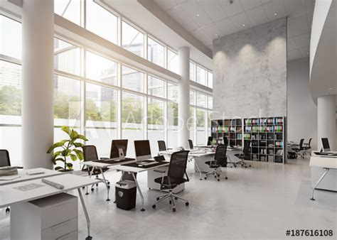 modern office building interior buy this stock photo