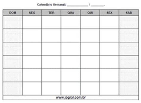 Calendario Semanal De Embarazo Calend 225 Semanal Para Imprimir Calend 225 Rios Dias Da