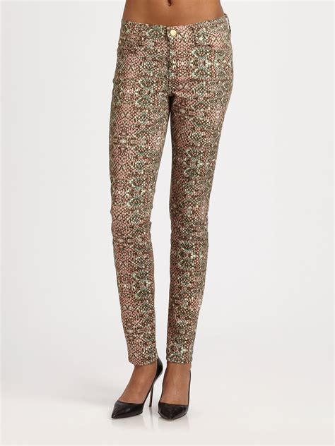 printed jeans denim trends for fall 2013 shop 7 for all mankind the skinny mosaicprint jeans in