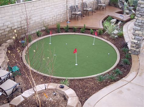 making a putting green in backyard schubert landscaping com waterless grass and golf greens