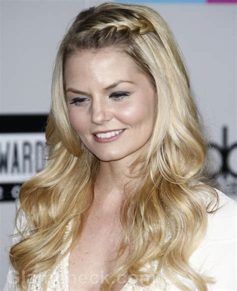 bangs braids and long hairstyles jennifer morrison chic in braided bangs