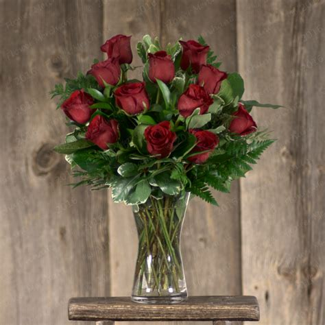 Roses In Vases by Vase Arrangement The Flower Merchant