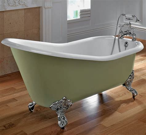 Clawfoot Tub Bathroom Ideas Small Bathroom Ideas With Green Clawfoot Tub Design And Stylish Wooden Parquet Flooring