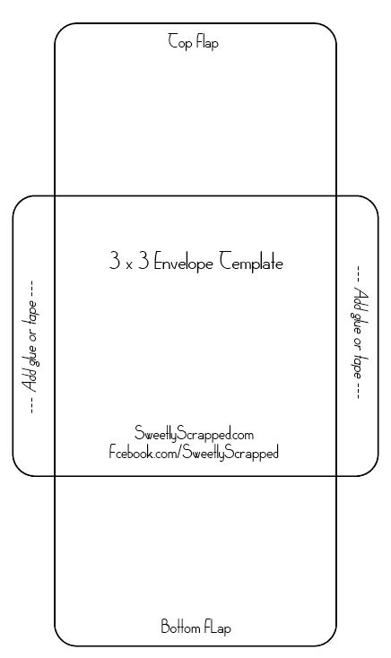 Cards Transparent Background Template For A 4x6 by Sweetly Scrapped Free Printable Envelopes Stationery