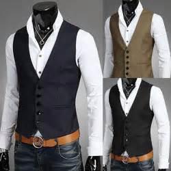 Jackets coats korean wedding mens v neck vest men vest online with 17