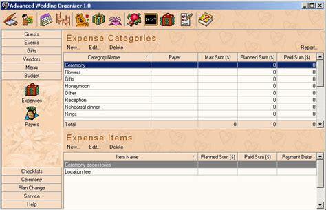 Wedding Organizer Software Free by Advanced Wedding Organizer Organize Wedding