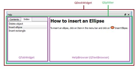 qtabwidget tutorial how to implement help for a qt application using qhelpengine