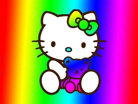 wallpaper hello kitty rainbow rainbow hello kitty wallpaper wallpapersafari