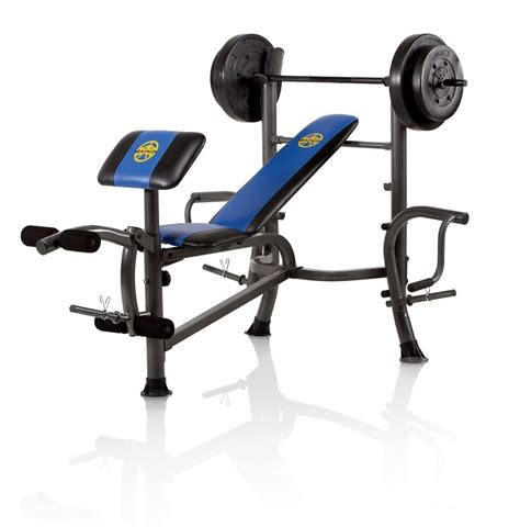 bench press 80 lbs marcy standard bench with 80 lb weight set with butterfly