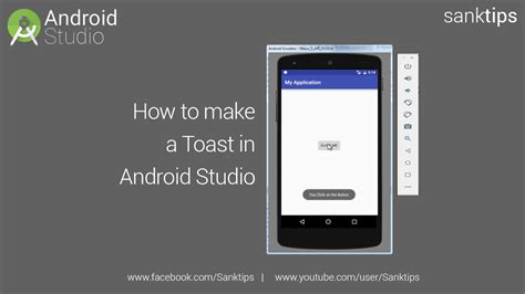 android studio toast tutorial how to implement toast in android studio sanktips youtube