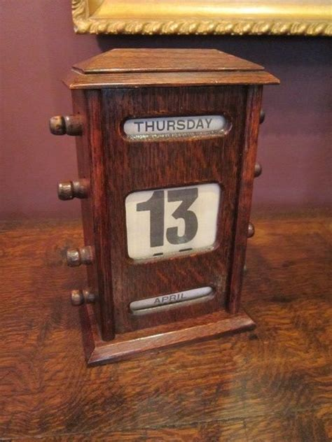 antique perpetual desk calendar edwardian oak perpetual desk calendar 376369