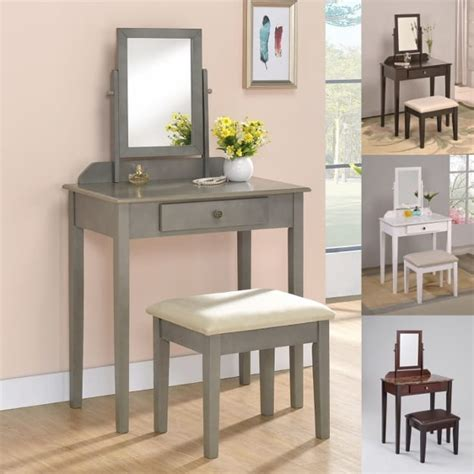Iris Vanity Table And Stool by Iris Vanity Table Stool Espresso Finish With Beige Seat