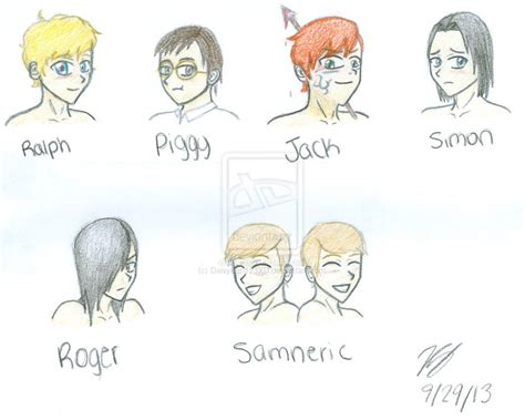 list of symbols in lord of the flies lord of the flies characters by daisyfan123xd on deviantart