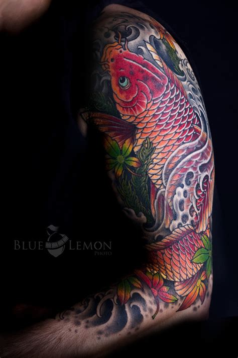 tattoo koi carp sleeves koi sleeve tattoo picture at checkoutmyink com