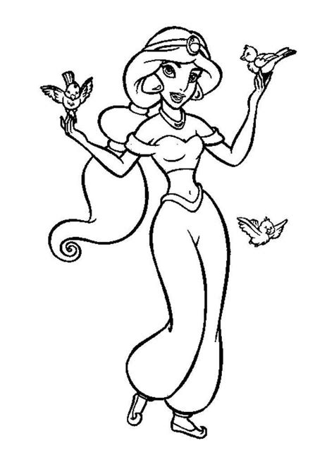 princess hair coloring pages disney printable princess jasmine long hair coloring pages