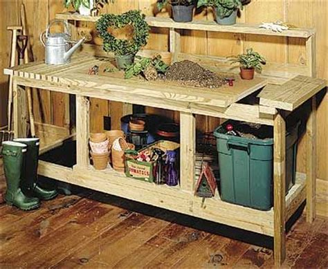 garden potting bench plans woodworking project plan garden potting bench gardening