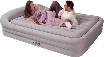 intex size comfort frame air bed in grey with held the air bed that s so