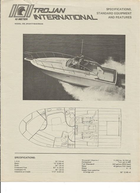 history trojan boat company specifications pricing trojan international boats