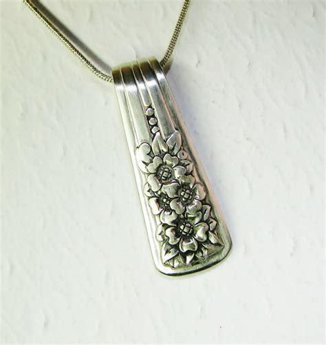 Spoon Necklace spoon necklace spoon handle pendant silver 1940