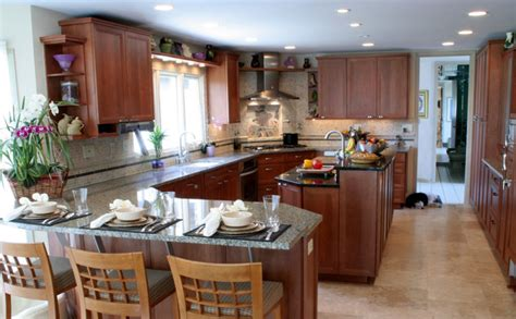 Kitchen Design Layouts With Islands transitional kosher kitchen with island and peninsula