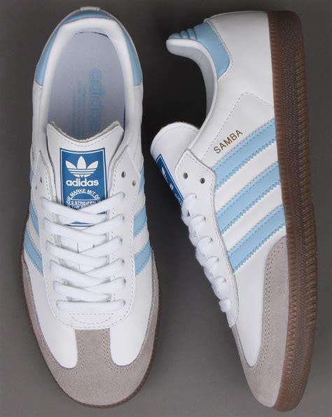 adidas samba og trainers whitesky blue adidas   casual classics