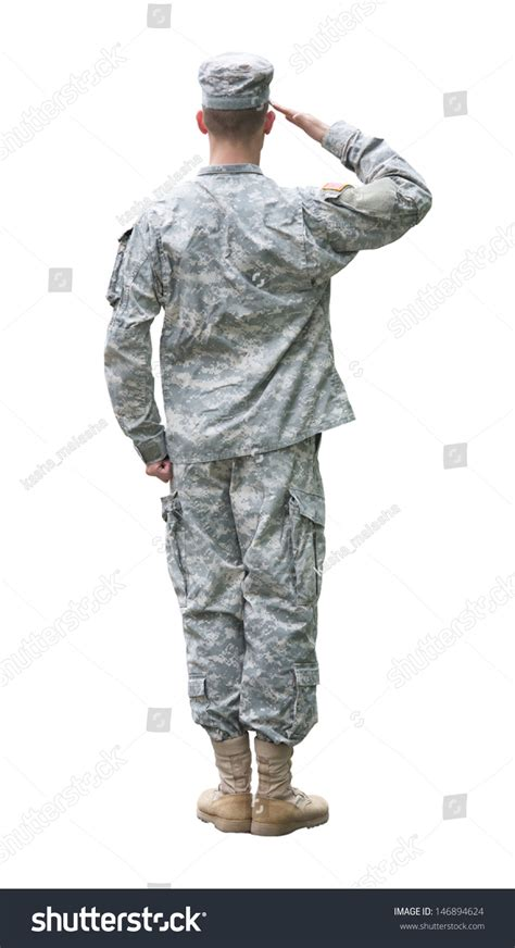 Us Army Email Address Lookup Us Army Soldier In Saluting Position Back View Isolated On White Background