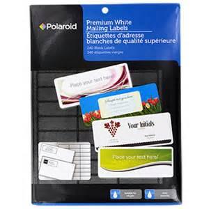 bulk polaroid premium white mailing labels 240 ct packs