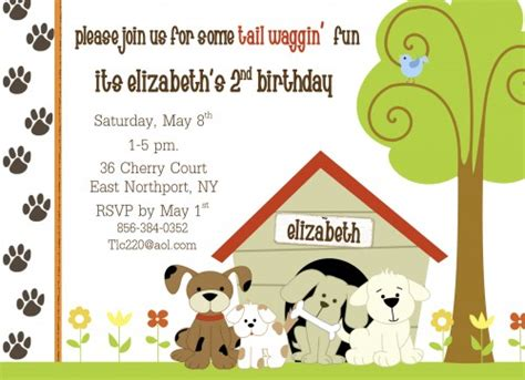 birthday card template dogs elizatate on artfire
