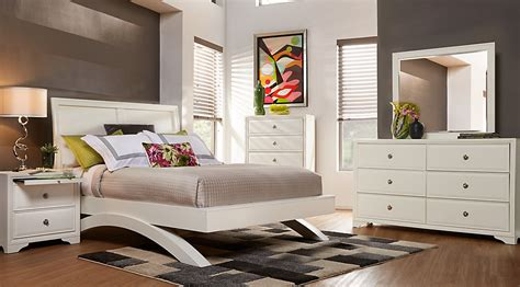 sleigh bedroom sets queen belcourt white 5 pc queen platform bedroom with sleigh