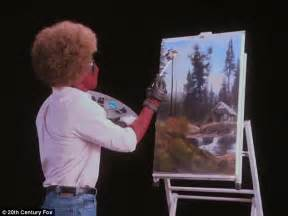 bob ross painting a sky impersonates bob ross in deadpool 2 teaser