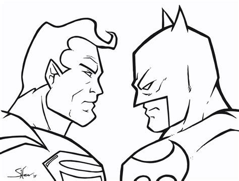 easy batman coloring pages dc comics superhero superman vs batman coloring pages
