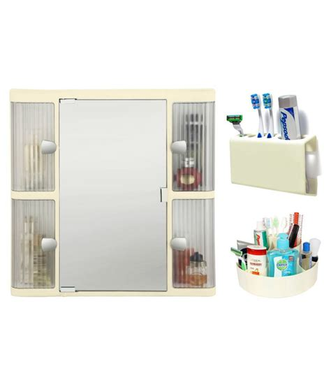 buy ciplaplast combo of ivory plastic bathroom mirror
