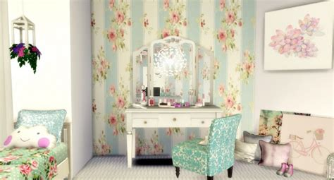 liily sims desing romantic girls bedroom sims  downloads