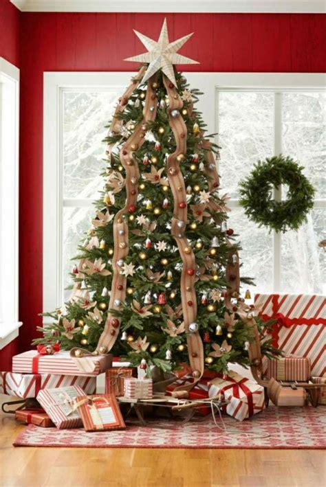decoracion de arbol de navidad con cintas 1001 ideas para decorar 225 rbol de navidad con mucha clase