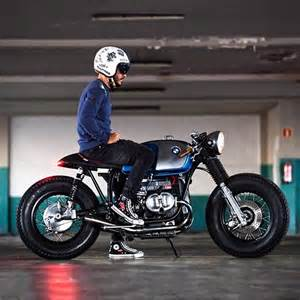 dcoedel and his custom bmw r100 cafe racer great stance