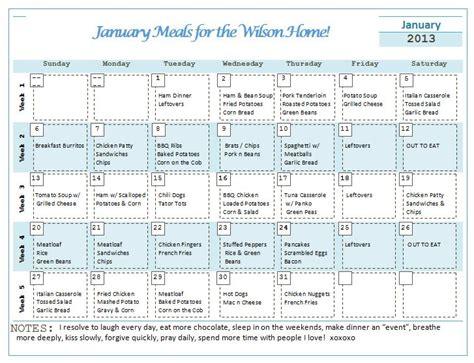 Dinner Calendar Monthly Menu Planner Girlfriends Coffee Hour