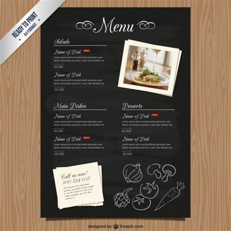cafe menu template free cmyk restaurant menu template vector free