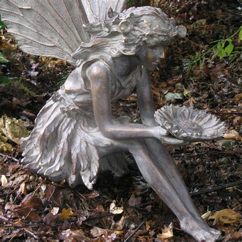 fairy garden statues large sitting fairy resin garden statue internet gardener