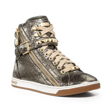 studded high top sneakers michael kors michael glam studded high top sneakers in